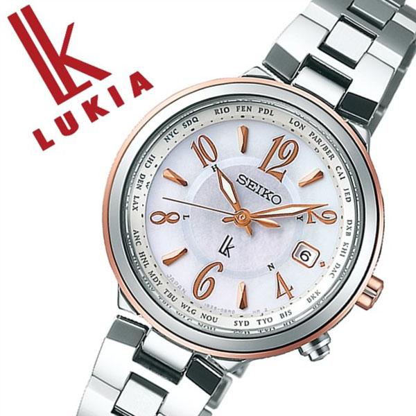 【5年保証対象】セイコー 腕時計 SEIKO 時計 セイコー 時計 SEIKO 腕時計 ルキア LUKIA レディース ホワイト SSVV034 人気 ブランド プレゼント ギフト 防水 ソーラー 電波 時計 メタル かわいい