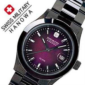 【5年保証対象】スイスミリタリーハノワ 腕時計 SWISSMILITARYHANOWA 時計 スイス ミリタリー ハノワ 時計 SWISS MILITARY HANOWA 腕時計 エレガント ブラック ELEGANT BLACK メンズ パープル ML-189 正規品 人気 スイス 防水 メタル ブラック カレンダー 送料無料