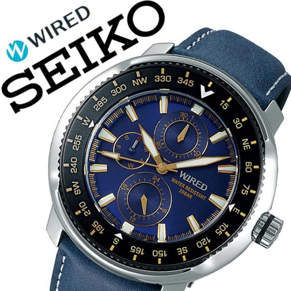 [当日出荷] 【5年保証対象】セイコー 腕時計 SEIKO 時計 セイコー 時計 SEIKO 腕時計 ワイアード WIRED メンズ ブルー AGAT418 正規品 人気 ブランド プレゼント ギフト ビジネス 革 レザー ベルト ネイビー 防水 送料無料