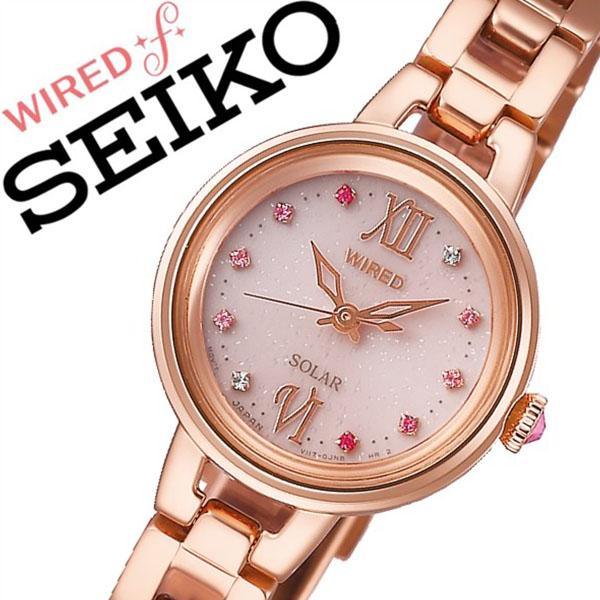 セイコー腕時計 SEIKO時計 SEIKO 腕時計 セイコー 時計 ワイアード エフ WIRED f レディース ピンク AGED093 [正規品 人気 ブランド バーゲン プレゼント ギフト ビジネス メタル ソーラー かわいい ピンクゴールド]