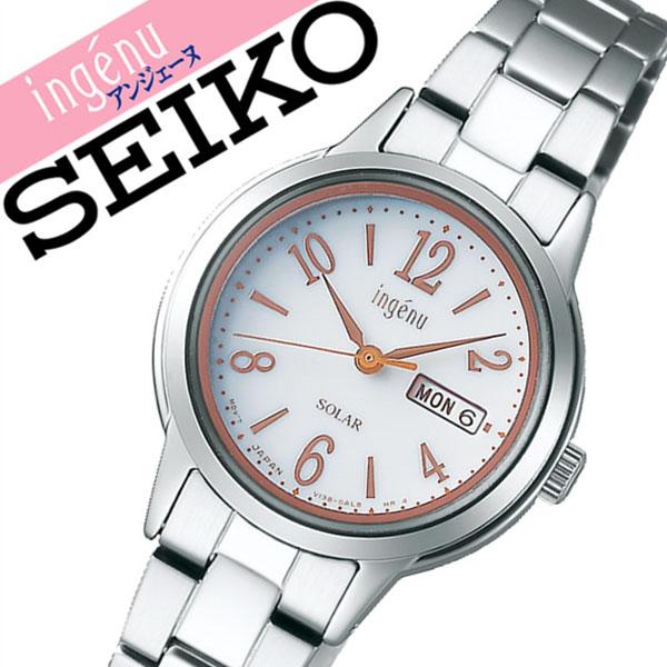 【5年保証対象】セイコー 腕時計 SEIKO 時計 セイコー 時計 SEIKO 腕時計 アルバ アンジェーヌ ALBA ingenu レディース ホワイト AHJD102 正規品 人気 ブランド プレゼント ギフト ビジネス メタル かわいい ソーラー 防水 送料無料