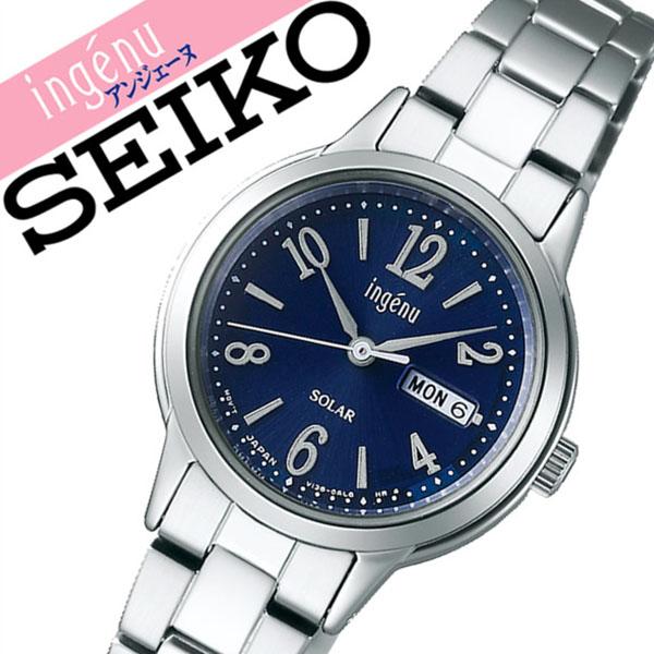 セイコー腕時計 SEIKO時計 SEIKO 腕時計 セイコー 時計 アルバ アンジェーヌ ALBA ingenu レディース ネイビー AHJD104 [正規品 人気 ブランド バーゲン プレゼント ギフト ビジネス メタル かわいい ソーラー]