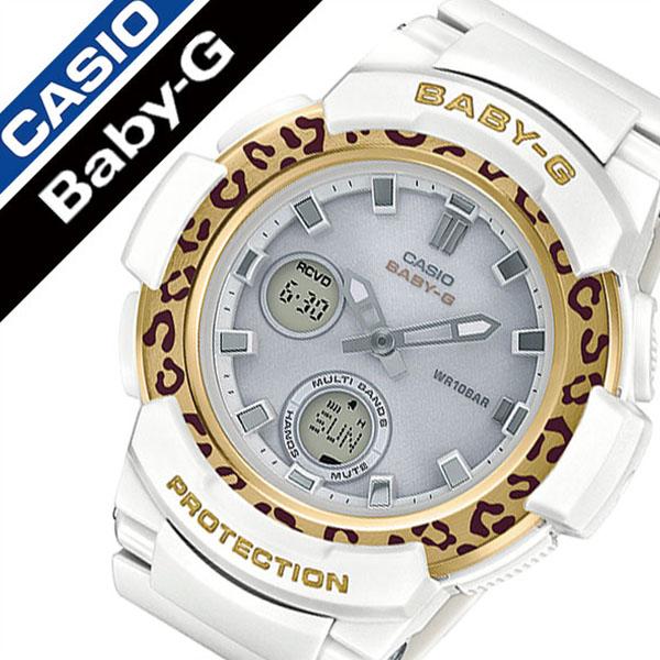 カシオ腕時計 CASIO時計 CASIO 腕時計 カシオ 時計 ベビージー レオパードパターン Baby-G Leopard Pattern Series レディース ホワイト BGA-2100LP-7AJF [正規品 ベビーG ベイビーG ヒョウ柄 おしゃれ ソーラー アナログ デジタル アナデジ 電波時計 ゴールド]