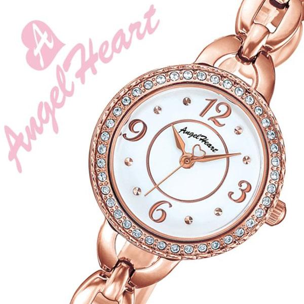【5年保証対象】エンジェルハート 腕時計 Angel Heart 時計 エンジェルハート 時計 Angel Heart 腕時計 クリスタルハニー Crystal Honey レディース ホワイト CH24PW 正規品 デート オフィス おしゃれ 細ベルト ハート ソーラー スワロフスキー ローズゴールド 送料無料