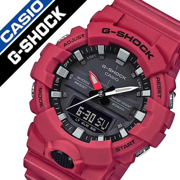 【5年保証対象】カシオ 腕時計 CASIO 時計 カシオ 時計 CASIO 腕時計 ジーショック G-SHOCK メンズ ブラック GA-800-4AJF 正規品 耐久 ペアウォッチ カップル Gショック ラバー カジュアル アウトドア ラウンド カレンダー レッド 送料無料