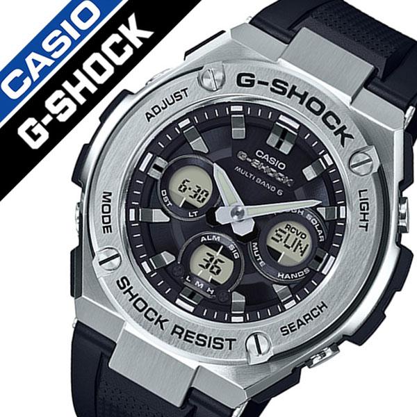 【5年保証対象】カシオ 腕時計 CASIO 時計 カシオ 時計 CASIO 腕時計 ジーショック ジースチール G-SHOCK G-STEEL メンズ ブラック GST-W310-1AJF 正規品 耐久 Gショック ラバー カジュアル アウトドア ラウンド カレンダー ソーラー 電波時計 父の日 ギフト