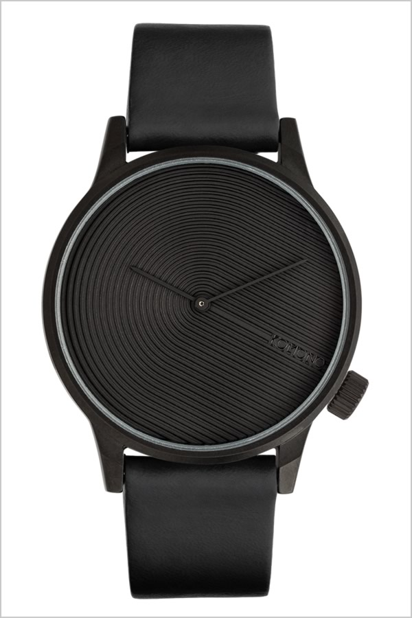 コモノ 腕時計 KOMONO 時計 コモノ 時計 KOMONO 腕時計 ウィンストン デコ オニキス WINSTON DECO ONYX メンズ レディース ユニセックス ブラック KOM-W3011 正規品 人気 ブランド プレゼント ギフト 革 レザー ベルト シンプル おしゃれ
