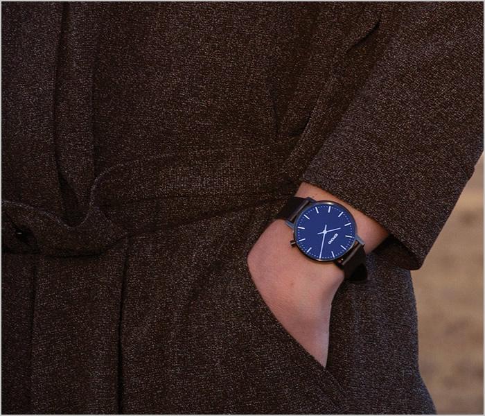 コモノ 腕時計 KOMONO 時計 コモノ 時計 KOMONO 腕時計 ハーロウ ミッドナイト HARLOW MIDNIGHT メンズ レディース ユニセックス KOM-W4104 正規品 人気 ブランド プレゼント ギフト 革 レザー ベルト シンプル おしゃれ ブラック