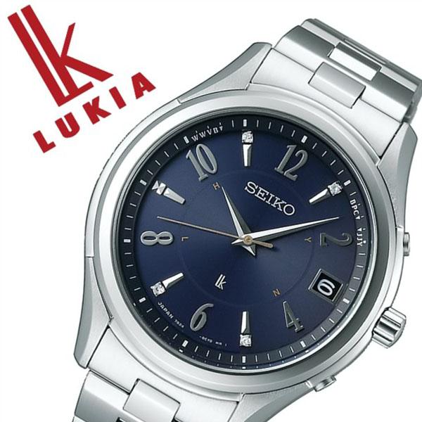 【5年保証対象】セイコー 腕時計 SEIKO 時計 セイコー 時計 SEIKO 腕時計 ルキア LUKIA メンズ ネイビー SSVH019 正規品 人気 ブランド プレゼント ギフト ビジネス メタル シルバー ソーラー 電波 ペアウォッチ シンプル ダイヤ 防水 限定