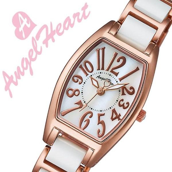 [当日出荷] 【5年保証対象】エンジェルハート 腕時計 Angel Heart 時計 エンジェルハート 時計 Angel Heart 腕時計 ラブスポーツ Love Sport レディース ホワイトパール WL21CPG 正規品 大人 おしゃれ アクセサリー デート スワロフスキー ホワイト ローズゴールド 送料無料