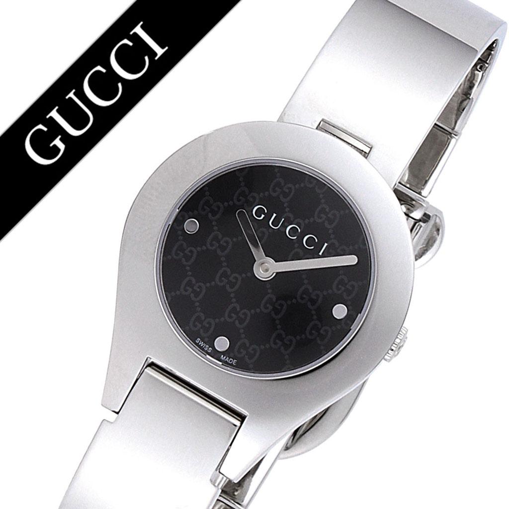 bee3eb4984db 6700 グッチ ブラック×シルバー 26mm レディース腕時計 YA067508 バングルウォッチ