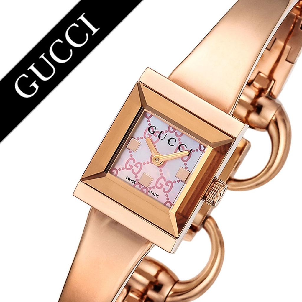グッチ腕時計 GUCCI時計 GUCCI 腕時計 グッチ 時計 Gフレーム G-FRAME レディース ピンク YA128518 [新作 人気 ブランド 防水 高級 おすすめ ファッション バーゲン プレゼント ギフト メタル ローズゴールド]