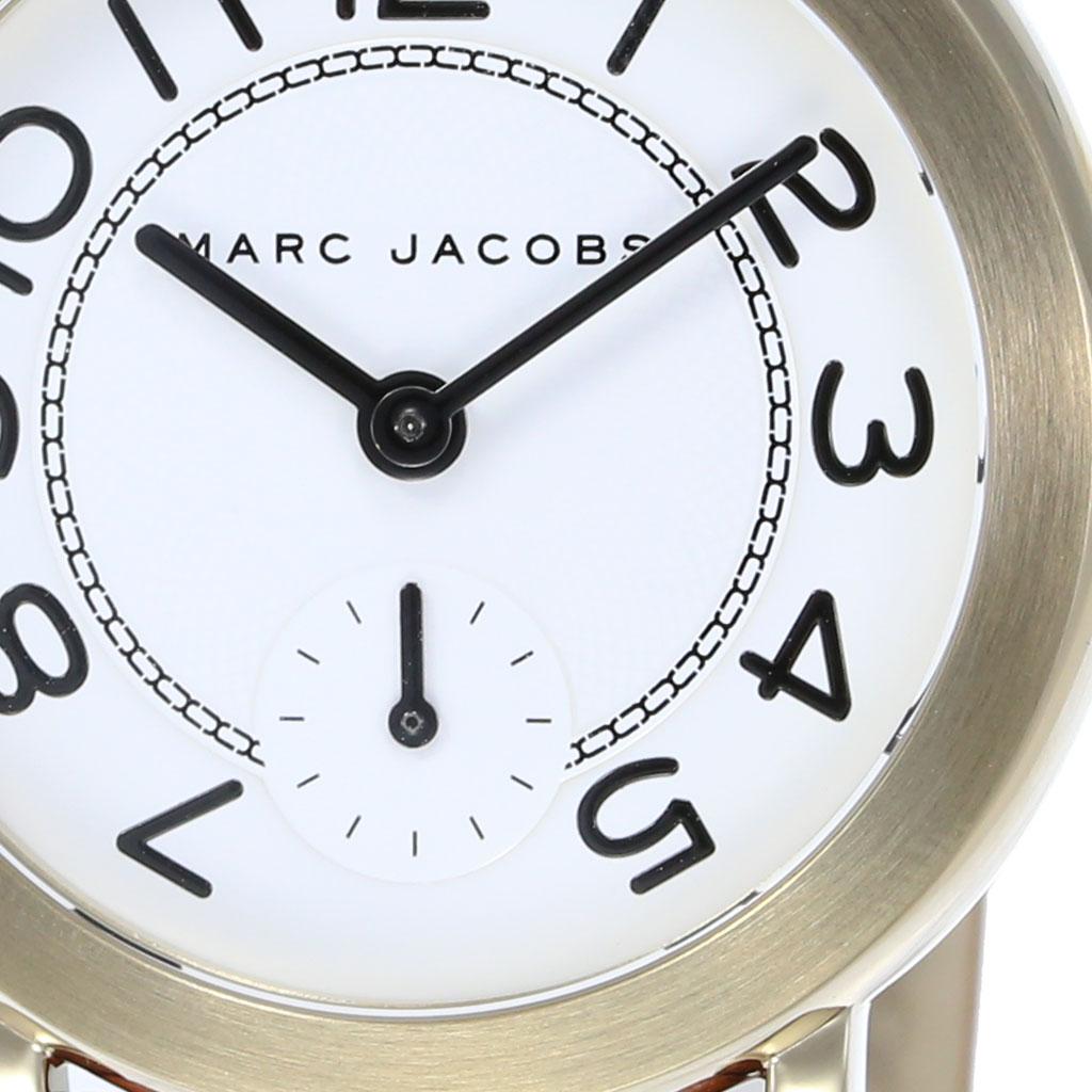 マークジェイコブス 腕時計 MARCJACOBS 時計 マーク ジェイコブス 時計 MARC JACOBS 腕時計 ライリー RILEY レディース ホワイト MJ1574 人気 流行 ブランド 防水 革 レザー カジュアル 双子 コーデ おそろい ペア カップル ラウンド ギフト メンズ ユニセックス