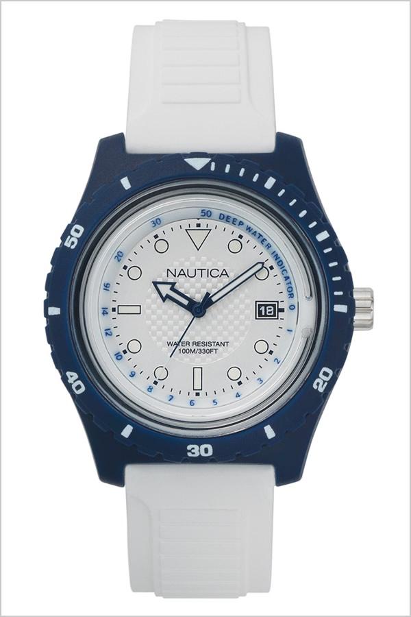 ノーティカ腕時計 NAUTICA時計 NAUTICA 腕時計 ノーティカ 時計 イビサ IBIZA メンズ ホワイト NAPIBZ006 [正規品 人気 ブランド 防水 バーゲン プレゼント ギフト ラバー シリコン アウトドア カレンダー ネイビー]