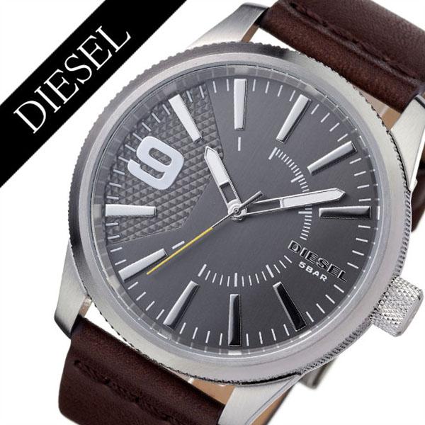 ディーゼル 腕時計 DIESEL 時計 ディーゼル 時計 DIESEL 腕時計 ラスプ RASP メンズ グレー DZ1802 [ アナログ 革 ベルト ブラック シルバー ご褒美 おしゃれ ファッション ブランド ギフト プレゼント ][送料無料]
