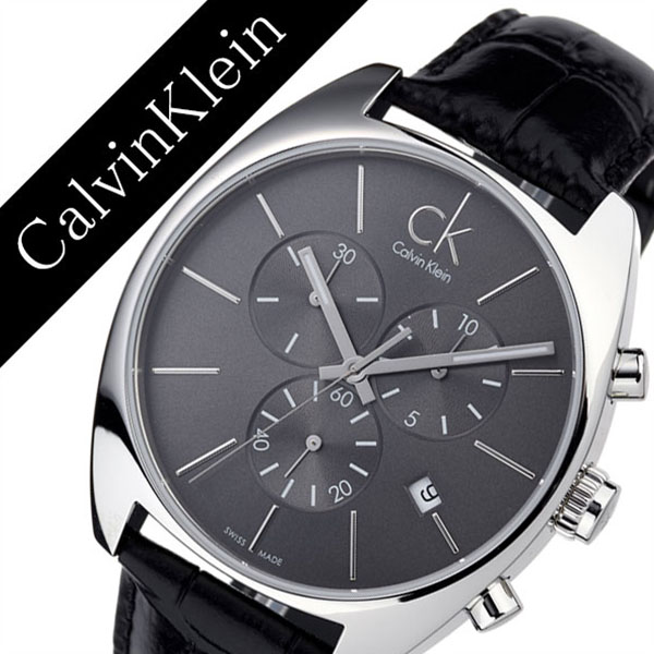 Calvin Klein Watch Calvinklein Clock Exchange Men Black K2f27107 Og Leather Belt Kurono Ck Sea Kay