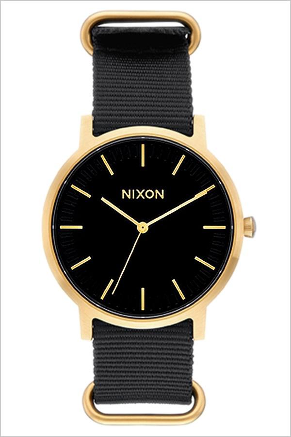 ニクソン 腕時計 NIXON 時計 ニクソン腕時計 NIXON時計 ポーターニクソン PORTER NYLON メンズ ブラック A105-9513 [ 防水 ペアウォッチ ナイロン ブラック ゴールド ]