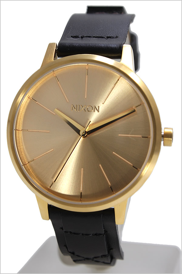 ニクソン 腕時計 NIXON 時計 ニクソン腕時計 NIXON時計 ケンジントン レザー KENSINGTON LEATHER メンズ ゴールド A108-2143 [ 人気 ブランド 防水 革 ベルト レザー ゴールド ブラック プレゼント ギフト ]
