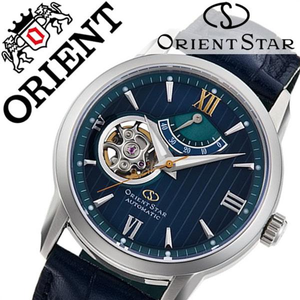 【5年保証対象】オリエント 腕時計 ORIENT 時計 オリエント時計 ORIENT腕時計 オリエントスター セミスケルトン 500個限定 OrientStar メンズ ネイビー グリーン RK-DA0001L [ 限定 ブランド 人気 スーツ おしゃれ レザー 自動巻き プレゼント ギフト][送料無料]