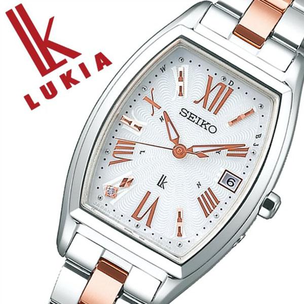 【5年保証対象】セイコー 腕時計 SEIKO 時計 セイコー 時計 SEIKO 腕時計 ルキア LUKIA レディース ホワイト SSVW117 ソーラー 電波時計 シンプル かわいい おしゃれ ファッション カレンダー トノー型 ホワイト シルバー ステンレス プレゼント ギフト