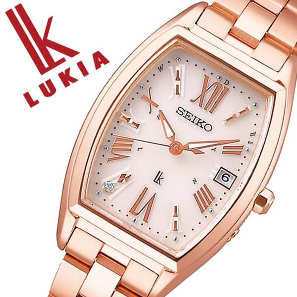 セイコー ルキア 腕時計 SEIKO 時計 LUKIA レディース ベージュ SSVW118[正規品 ソーラー 電波時計 上品 シンプル 人気 おすすめ ビジネス ビジカジ 大人 かわいい おしゃれ ファッション カレンダー トノー型 ピンク ローズゴールド ステンレス プレゼント ギフト]