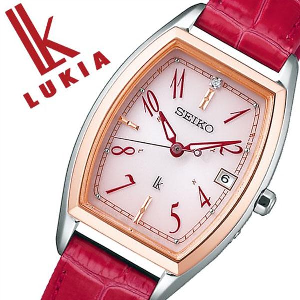 【5年保証対象】セイコー 腕時計 SEIKO 時計 セイコー 時計 SEIKO 腕時計 ルキア LUKIA レディース ピンク SSVW122 ソーラー 電波時計 シンプル かわいい おしゃれ ファッション カレンダー トノー型 ピンク ローズゴールド ステンレス プレゼント ギフト 送料無料