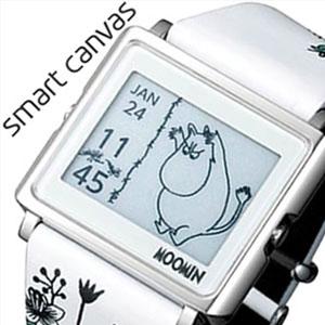エプソン 腕時計 EPSON 時計 スマートキャンバス ムーミン キャラクター グリーン Smart Canvas MOOMIN Character メンズ レディース 液晶 W1-MM10110 [ キャラクター 電子ペーパー スマキャン 北欧 ホワイト グリーン ムーミン スマートキャンパス ][送料無料]