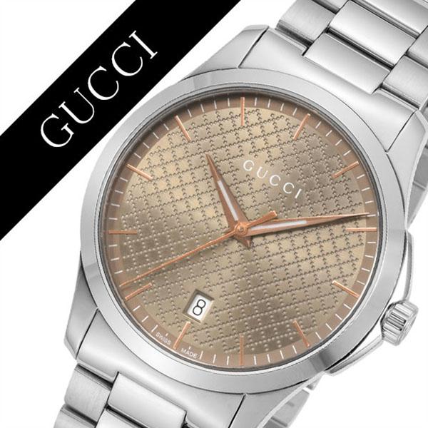 グッチ 腕時計 GUCCI 時計 グッチ 時計 GUCCI 腕時計 Gタイムレス G-TIMELESS メンズ/ブラウン YA1264053 [ 人気 イタリア ブランド 高級 メタル 防水 おすすめ ファッション プレゼント ギフト ][送料無料]