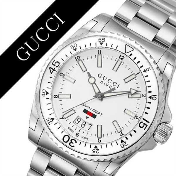 5b4c0534fe2 Gucci watch GUCCI clock Gucci clock GUCCI watch dive DIVE men   white  YA136302  popular Italian brand high quality metal waterproofing divers dive  ...