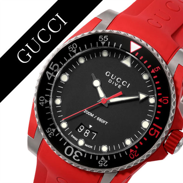 e614d776819 Gucci watch GUCCI clock Gucci clock GUCCI watch dive DIVE men   black  YA136309  popular Italian brand high quality leather leather waterproofing divers  dive ...