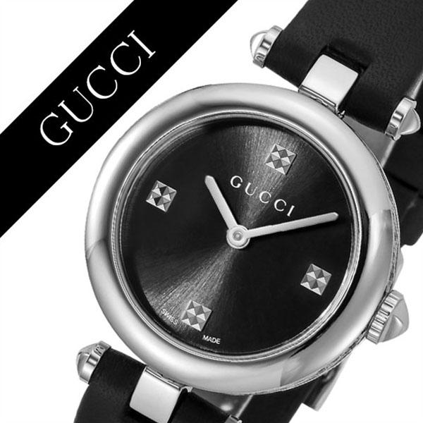 8019eba2f1a Gucci watch GUCCI clock Gucci clock GUCCI watch ディアマンティッシマ DIAMANTISSIMA  Lady s   black YA141506  brand high quality leather leather waterproofing  ...