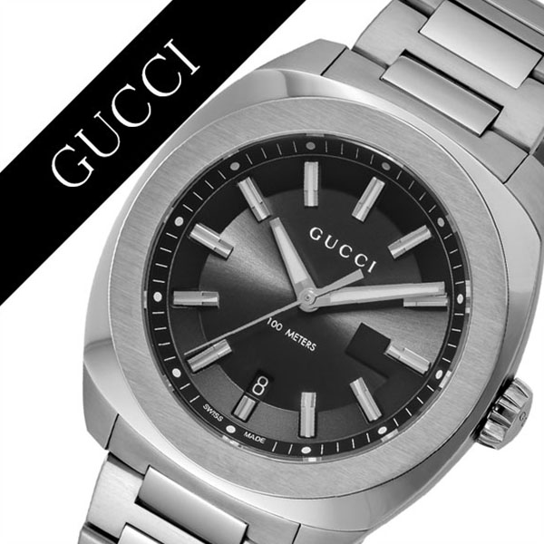 [当日出荷] グッチ 腕時計 GUCCI 時計 グッチ 時計 GUCCI 腕時計 GG2570 メンズ/ブラック YA142201 人気 イタリア ブランド 高級 メタル 防水 おすすめ ファッション プレゼント ギフト 送料無料