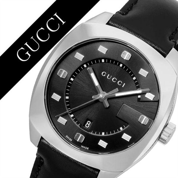 グッチ 腕時計 GUCCI 時計 グッチ 時計 GUCCI 腕時計  GG2570 レディース/ブラック YA142307 [ 人気 イタリア ブランド 高級 革 レザー 防水 おすすめ ファッション プレゼント ギフト ][送料無料]