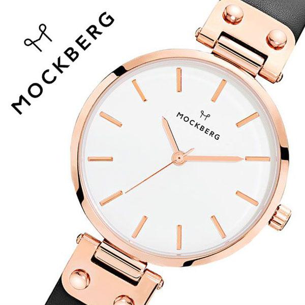 モックバーグ 腕時計 MOCKBERG 時計 オリジナル Originals Sigrid メンズ レディース ホワイト MO1001[正規品 人気 ブランド 就活 上品 エレガント クラシック ビジネス スーツ アクセサリー シンプル ラウンド 革 レザー ピンクゴールド ブラック プレゼント ギフト]