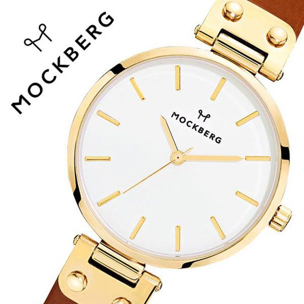 モックバーグ 腕時計 MOCKBERG 時計 オリジナル Originals Ilse メンズ レディース ホワイト MO108[正規品 人気 ブランド 就活 社会人 上品 エレガント クラシック ビジネス スーツ アクセサリー シンプル ラウンド 革 レザー ゴールド ブラウン プレゼント ギフト]