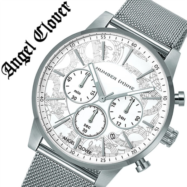 【5年保証対象】エンジェルクローバー 腕時計 AngelClover 時計 エンジェル クローバー 時計 Angel Clover 腕時計 ナンバーナイン × エンジェルクローバー NUMBER(N)INE メンズ ホワイト NNC42SWH ブランド ファッション スーツ ビジネス クロノグラフ ギフト 送料無料