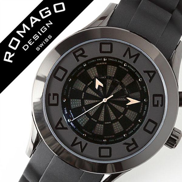 ロマゴデザイン 腕時計 ROMAGODESIGN 時計 ロマゴ デザイン 時計 ROMAGO DESIGN 腕時計 アトラクション Attraction メンズ レディース ブラック RM015-0536PL-BKBK ブランド ファッション カジュアル おしゃれ ミラー スーツ ダーツ ラバー プレゼント ギフト