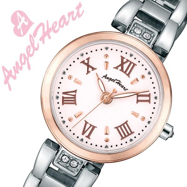 エンジェルハート 腕時計 Angel Heart 時計スパークルタイム Sparkle Time レディース ホワイト ST24RSP[正規品 人気 ブランド ファッション カジュアル おしゃれ スーツ ビジネス かわいい 上品 華やか スワロフスキー ステンレス シルバー プレゼント ギフト]