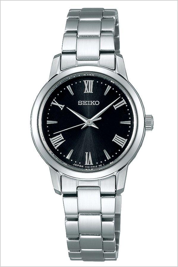 【5年保証対象】セイコー 腕時計 SEIKO 時計 セイコー 時計 SEIKO 腕時計 セイコーセレクション SEIKO SELECTION レディース/ブラック STPX051 [ ビジネス スーツ オフィスカジュアル ラウンド ステンレス ペア カップルコーデ おそろい シルバー プレゼント ギフト]