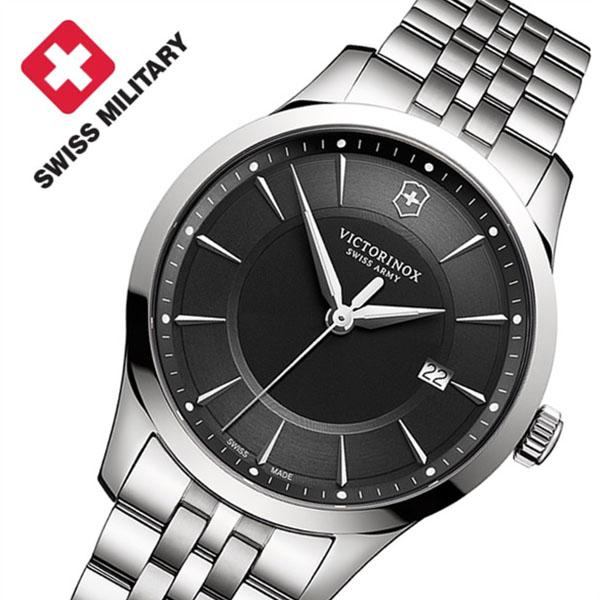 【5年保証対象】ビクトリノックススイスアーミー 腕時計 VICTORINOXSWISSARMY 時計 ビクトリノックス スイスアーミー 時計 VICTORINOX SWISSARMY 腕時計 アライアンス ALLIANCE メンズ ブラック VIC-241801 ブランド ビジネス スーツ ファッション シルバー ギフト