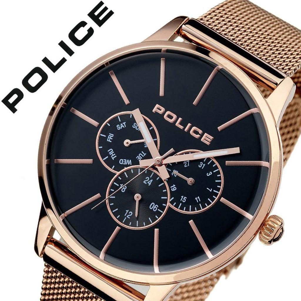 【5年保証対象】ポリス 腕時計 POLICE 時計 ポリス 時計 POLICE 腕時計 スウィフト SWIFT メンズ ブラック 14999JSR-02MM [ ブランド 防水 ゴールド ステンレス スーツ ビジネス カジュアル おしゃれ シンプル デザイン クロノグラフ デイデイト 男性 ギフト ][送料無料]