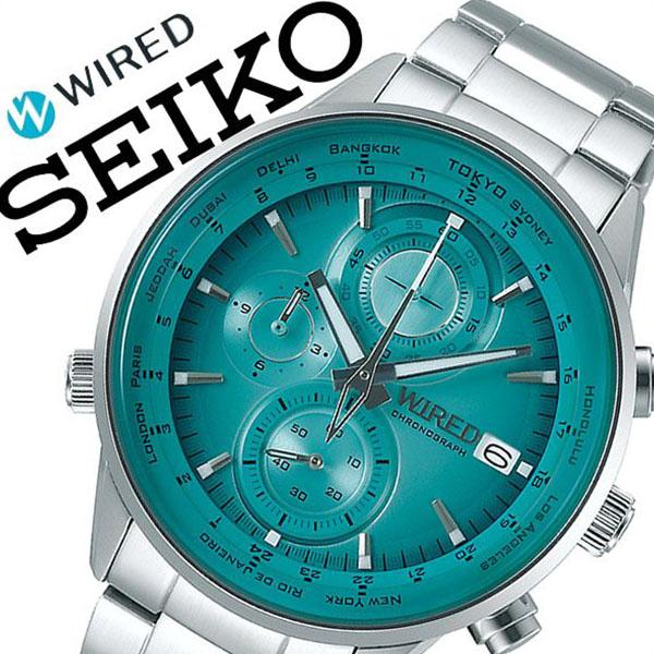 【5年保証対象】セイコー 腕時計 SEIKO 時計 セイコー 時計 SEIKO 腕時計 ワイアード WIRED メンズ グリーン AGAW451 ブランド おすすめ ビジネス スーツ カジュアル 防水 シルバー ステンレス プレゼント ギフト 送料無料