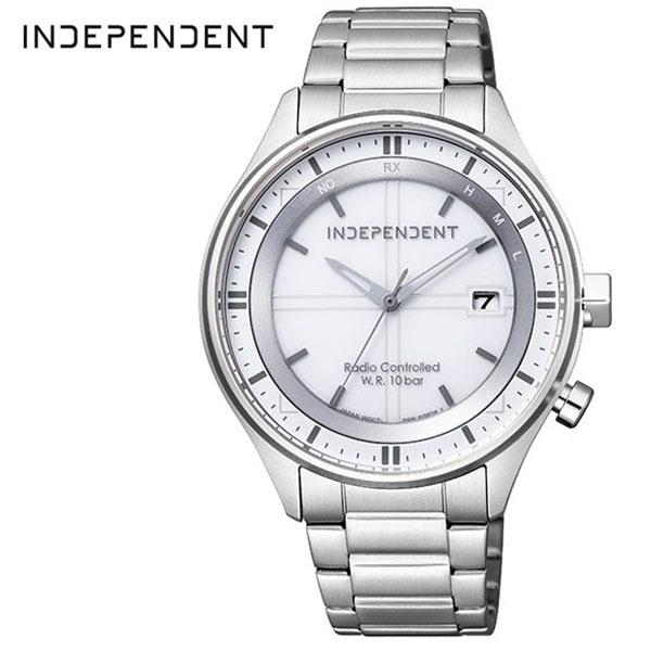 【5年保証対象】シチズン 腕時計 CITIZEN 時計 シチズン 時計 CITIZEN 腕時計 インディペンデント INDEPENDENT メンズ ホワイト KL8-619-11 ビジネス カジュアル メタル 軽量 防水 ソーラー 電波時計 シルバー ステンレス メタルバンド プレゼント 父の日 ギフト