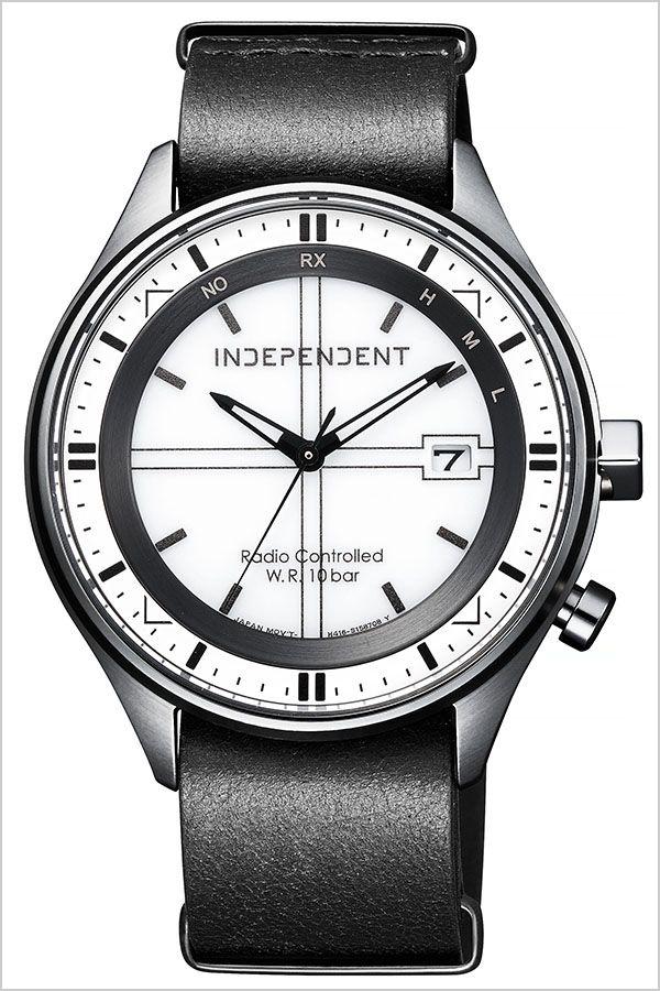 【5年保証対象】シチズン 腕時計 CITIZEN 時計 シチズン 時計 CITIZEN 腕時計 インディペンデント INDEPENDENT メンズ ホワイト KL8-643-10 [ ビジネス カジュアル モダン メタル 軽量 おしゃれ 防水 ソーラー 電波時計 ブラック 革 レザー プレゼント ギフト ][]