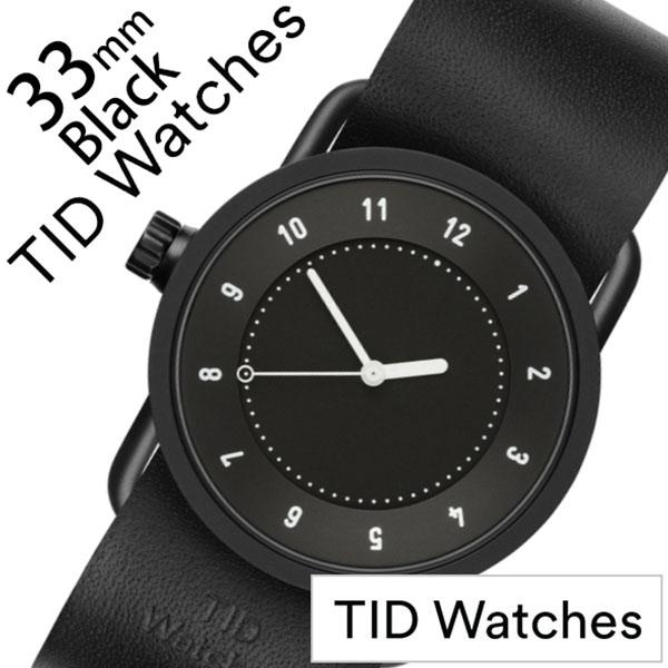 ティッドウォッチ No.1 33mm 腕時計 TID Watches 時計 レディース ブラック TID01-BK33-BK [ 正規品 人気 ブランド シンプル 個性的 デザイナーズ アート ファッション お洒落 ミニマル おしゃれ 北欧 レザー 革 ペアウォッチ ギフト プレゼント ]