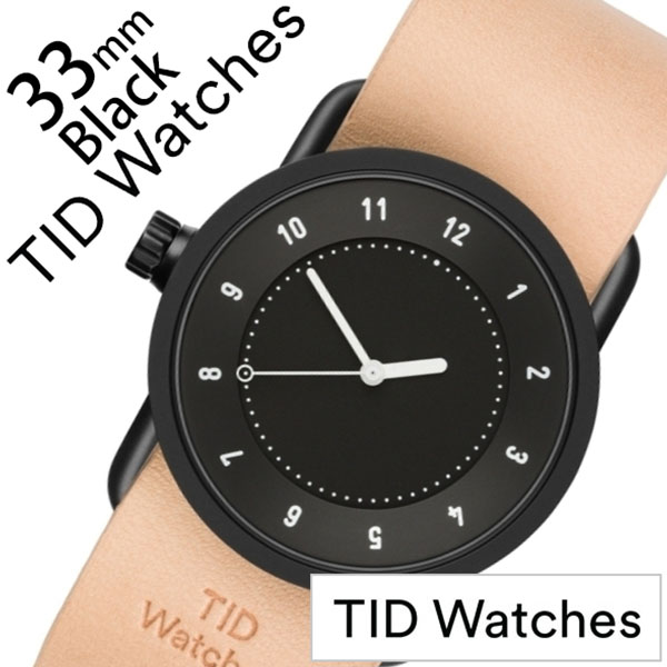 【5年保証対象】ティッドウォッチ 腕時計 TIDWatches 時計 ティッドウォッチ 時計 TIDWatches 腕時計 No.1 33mm レディース ブラック TID01-BK33-N [ 正規品 人気 ブランド シンプル ミニマル おしゃれ 北欧 レザー 革 ペアウォッチ ギフト プレゼント ][送料無料]