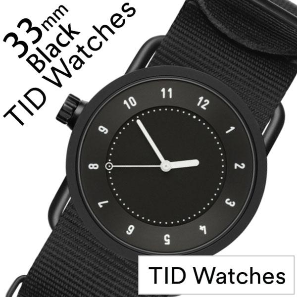 【5年保証対象】ティッドウォッチ 腕時計 TIDWatches 時計 ティッドウォッチ 時計 TIDWatches 腕時計 No.1 33mm レディース ブラック TID01-BK33-NBK [ 正規品 人気 ブランド シンプル ミニマル おしゃれ 北欧 ナイロン ペアウォッチ ギフト プレゼント ][送料無料]
