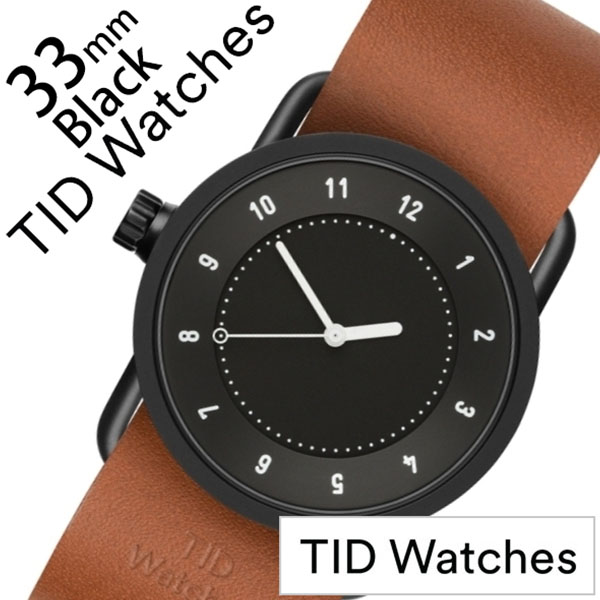 【5年保証対象】ティッドウォッチ 腕時計 TIDWatches 時計 ティッドウォッチ 時計 TIDWatches 腕時計 No.1 33mm レディース ブラック TID01-BK33-T [ 正規品 人気 ブランド シンプル ミニマル おしゃれ 北欧 レザー 革 ペアウォッチ ギフト プレゼント ][送料無料]