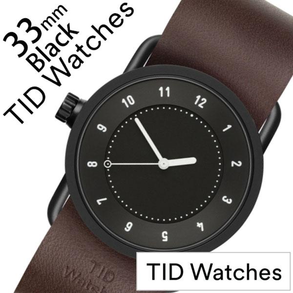 ティッドウォッチ No.1 33mm 腕時計 TID Watches 時計 レディース ブラック TID01-BK33-W [ 正規品 人気 ブランド シンプル 個性的 デザイナーズ アート ファッション お洒落 ミニマル おしゃれ 北欧 レザー 革 ペアウォッチ ギフト プレゼント ]