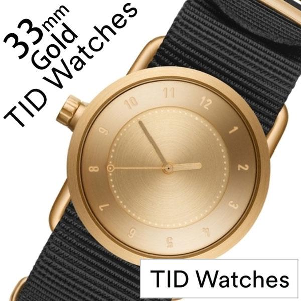 ティッドウォッチ No.1 33mm 腕時計 TID Watches 時計 レディース ゴールド TID01-GD33-NBK [ 正規品 人気 ブランド シンプル 個性的 デザイナーズ アート ファッション お洒落 ミニマル おしゃれ 北欧 ナイロン ペアウォッチ ギフト プレゼント ]